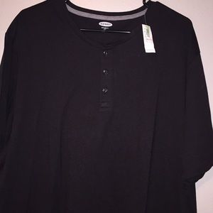NWT OLD NAVY black Henley